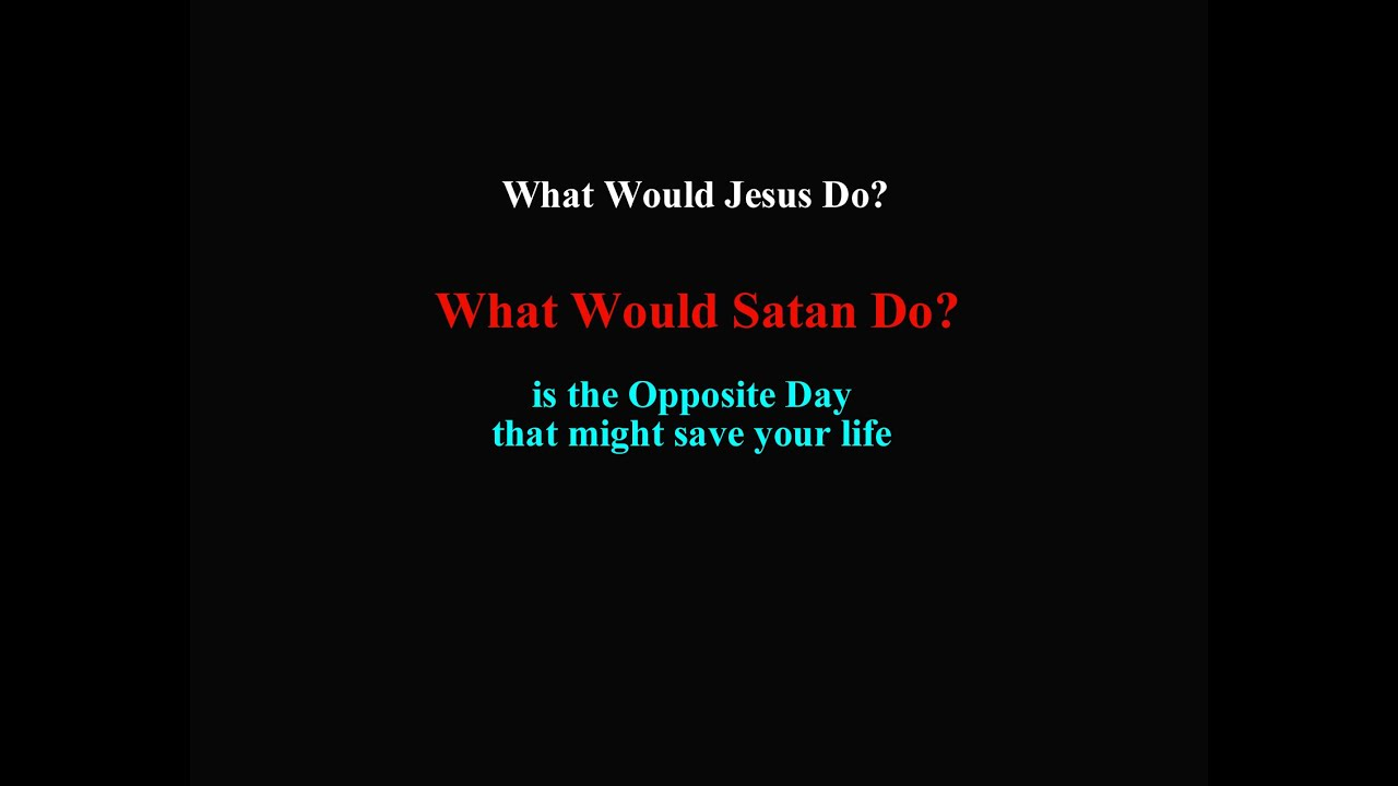 What Would Satan Do?  Lettuce sPRAY.