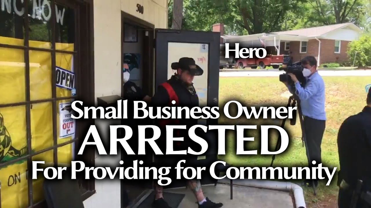 Small Business Owner Arrested & Handcuffs For Living & Providing For People! No Justice, No Peace!