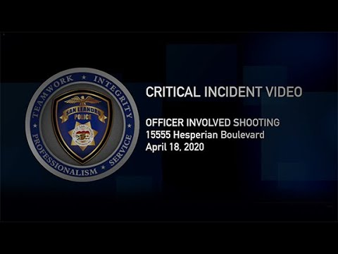 SLPD Community Briefing Video - Officer Involved Shooting 04/18/20